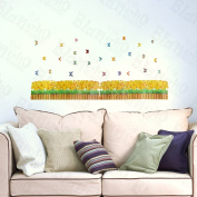 [Yellow Flower Shrubs] Decorative Wall Stickers Appliques Decals Wall Decor Home Decor