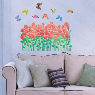 [Rose Shrubs] Decorative Wall Stickers Appliques Decals Wall Decor Home Decor