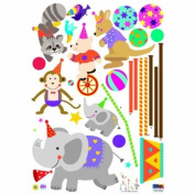 Reusable Decoration Wall Sticker Decal - ECO Cubic Circus
