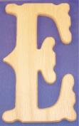 Western Wood Wall Letter 25.4cm E