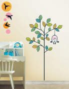 Jiniy POEM & TREE Kids Wall Decals Deco Mural Sticker