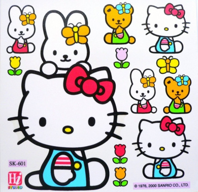 Hello Kitty Home Decor Kids Furniture Window Wall Glass Decal Laptop Vinyl Stickers