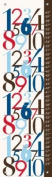 Oopsy Daisy Modern Numbers, Red and Blue Growth Chart by Patchi Cancado, 30.5cm by 106.7cm