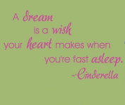 Wallstickersusa Wall Stickers, a Dream is a Wish Your Heart Makes When You'Re Fast Asleep - Cinderella