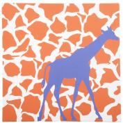 giggledots Rusty Giraffe Mix & Match Canvas Print - Orange