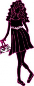 Zebra Print Fashion Model with Purse Wall Decal, Stickers, Graphics