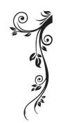 WallStickersUSA Wall Sticker, Black Floral Tribal