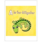 Matthew Porter Art Wall Decor Art Print, A is for Alligator
