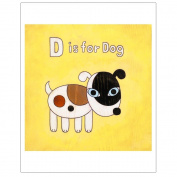 Matthew Porter Art Wall Decor Art Print, Alphabets, D is for Dog