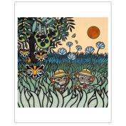 Matthew Porter Art Wall Decor Art Print, Tiger Hunt Monkey