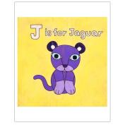 Matthew Porter Art Wall Decor Art Print, J is for Jaguar