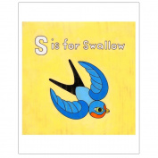 Matthew Porter Art Wall Decor Art Print, Alphabets, S is for Swallow