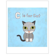 Matthew Porter Art Wall Decor Art Print, Alphabets, C is for Cat