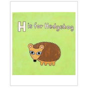 Matthew Porter Art Wall Decor Art Print, Alphabets, H is for Hedgehog