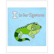 Matthew Porter Art Wall Decor Art Print, Alphabets, I is for Iguana