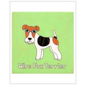 Matthew Porter Art Wall Decor Art Print, Alphabets, Wire Fox Terrier