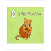 Matthew Porter Art Wall Decor Art Print, Alphabets, Q is for Quokka