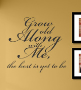 Grow old along with me vinyl Wall Decals Quotes Sayings Words Art Decor Lettering vinyl wall art inspirational uplifting