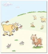 FunToSee Funberry Farm Children's Wall Decals, Pony And Cow Scene