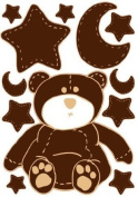 Brown Teddy Bear Wall Decals Stickers