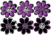 Purple Animal Print octi- petal Flowers Wall Stickers, Decals