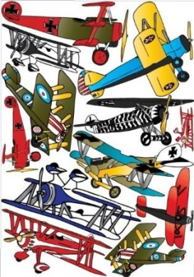 Vintage Aeroplane Wall Stickers- Decals- Wall Decor