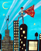 Cici Art Factory Wall Art, Superhero African American, Small