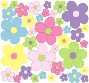Pastel Daisy Flower Wall Stickers, Decals, Graphics