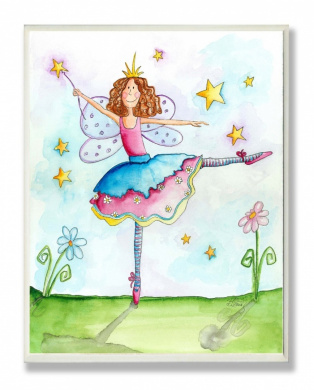 The Kids Room Wall Decor, Twinkle Toes Fairy Ballerina Princess