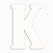 Munch Oversized White Wood Letters, K