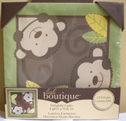 Little Boutique Light up Canvas Wall Art - Boy Monkey