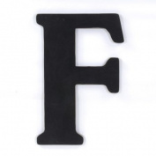 Munch Oversized Black Wood Letters, F