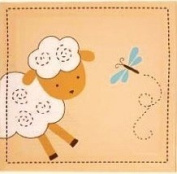 . Little Lamb Wall Art,2 Piece,beige,stretched Canvas on Wood,10x10x1