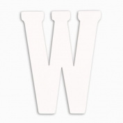 Munch Oversized White Wood Letters, W