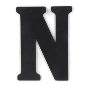Munch Oversized Black Wood Letters, N
