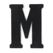 Munch Oversized Black Wood Letters, M