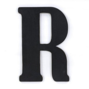 Munch Oversized Black Wood Letters, R