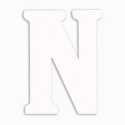 Munch Oversized White Wood Letters, N