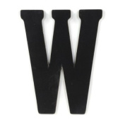 Munch Oversized Black Wood Letters, W
