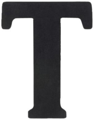 Munch Oversized Black Wood Letters, T