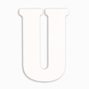 Munch Oversized White Wood Letters, U