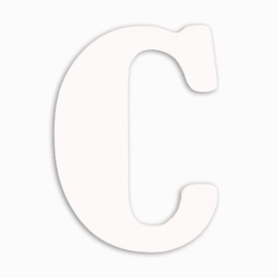 Munch Oversized White Wood Letters, C