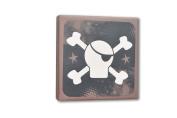 Homeworks Etc Pirate Skull and Bones Canvas Wall Art, Black/Tan/White