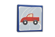 Homeworks Etc Truck Canvas Wall Art, Blue/Red/White