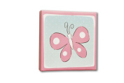 Homeworks Etc Butterfly Canvas Wall Art, Pink/Blue/White