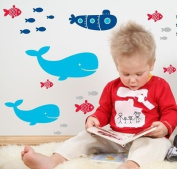 Forwalls Whale of a Time Removable Wall Decal Stickers