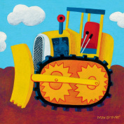 Oopsy Daisy Earthmover Stretched Canvas Wall Art by Max Grover, 25.4cm by 25.4cm