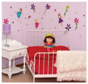 CuteyBaby 30.5cm x 121.9cm Illustrated Removable Wall Decals, Pastel Fairy Girls