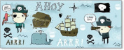 Art4Kids Ahoy Matey I Wall Decor, Treasure Chest, 50.8cm x20.3cm
