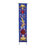 Bird + Pomegranates in Blue Wall Hanging CAT# WL- 9